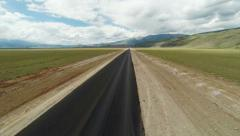 Stock Footage Flight Over the Highway to Mountains Stock Footage