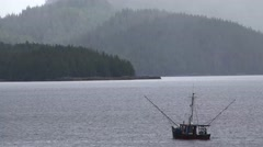 Ketchikan, Alaska, fishing boat islands Stock Footage