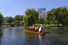 Boston Public Garden and sightseeing - stock photo