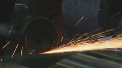 Work on the grinder Stock Footage