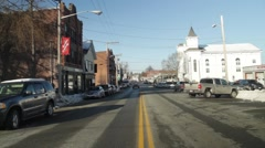 Small Town - Main Street Stock Footage