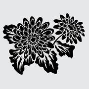 floral decoration with gerbera, for invitations, cards, banners, scrapbook - stock illustration