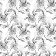 seamless pattern with decorative flowers, for invitations, cards, scrapbooking - stock illustration