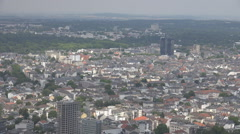 Aerial view Frankfurt am Main german city residential house cityscape skyline  Stock Footage