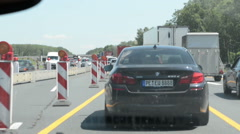 Traffic jam on A2 motorway (Germany) Stock Footage