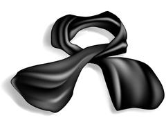 Silk scarf on white background with shadow Stock Illustration