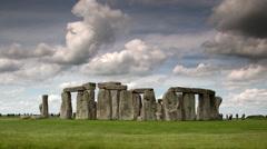 Stone henge england tourism monolith stones Stock Footage