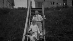 Father And Sons Head To Go Fishing - Vintage 8mm Stock Footage
