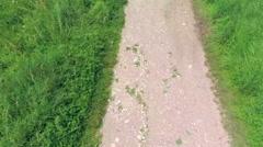 Aerial Overhead Running on Track Stock Footage