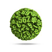 Numbers sphere - stock illustration
