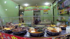 Qibao Market Slo-Mo sideview 3 30fps Stock Footage