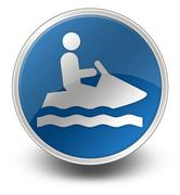 icon, button, pictogram personal watercraft - stock illustration