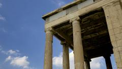 Greek Acropolis in Athens. Erechtheion Building.  Stock Footage