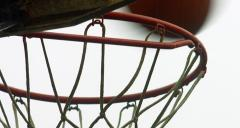 CU Basketball Net Makes Shots Stock Footage