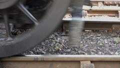Steel Wheels of Steam Train Stock Footage