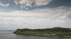 Uigg sle of skye scotland timelapse mountains Stock Footage