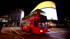 Timelapse view of the piccadilly circus at rush hour, on july Stock Footage