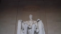 Fantastic Shot of The Lincoln Memorial Stock Footage