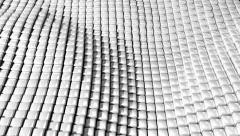 Cube grid patterns wobble abstract background Stock Footage