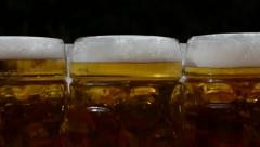 Beer Mugs Tracking Shot Stock Footage