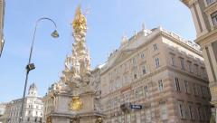 The Graben is one of the most famous streets in Vienna's first district Stock Footage