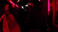 Handheld Hidden Camera shot Walking Through the Red Light District in Amsterdam Stock Footage