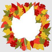 Fall leaves illustration Piirros