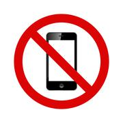 No cell phones allowed sign Stock Illustration