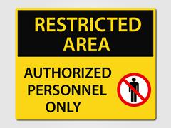 Authorized personnel sign Stock Illustration