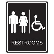 Restrooms sign vector illustration Stock Illustration
