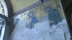 Christ Wall 2 Hagia Sofia Arkistovideo