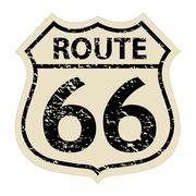 Vintage route 66 sign illustration Piirros