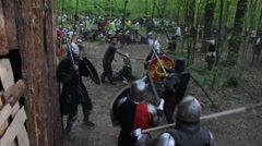 Great battle of the Knights in full armor (Part 8) Stock Footage