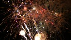 Fireworks Exploding in Slow Motion 8 Stock Footage