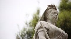 Queen Victoria statue Stock Footage