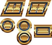 Golden font symbol Stock Illustration