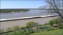 Mississippi Vicksburg barge good view time lapse 4k Stock Footage