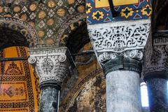 deeply undercut corinthian columns - stock photo