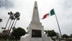 Ensenada Mexico Plaza Civica Scenic B-Roll with Pan Stock Footage