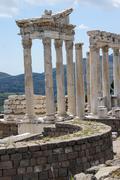 Trajaneum of the acropolis Stock Photos