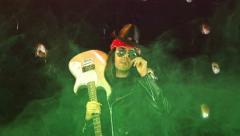 Rock god rock star Stock Footage