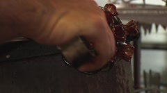 Glass Blowing Closeups Stock Footage