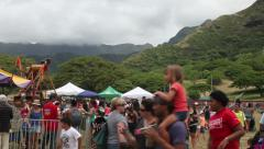 Hawaii State Farm Fair at Kualoa Ranch  Stock Footage