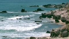 Cabo Coastline Ocean Beach Scenic B-Roll Stock Footage