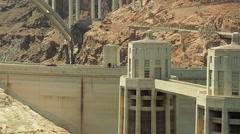Hoover Dam, Lake Mead, Mike O'Callaghan-Pat Tillman Memorial Bridge - stock footage