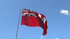 The flag of Bermuda Waving on the Wind. Stock Footage