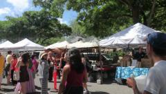 Kapiolani Community College Farmers Market, Honolulu, Hawaii. Stock Footage