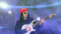 Rock star rocking out rocker rockstar Stock Footage
