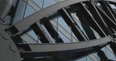 Patterns on a skyscraper 4K Stock Footage