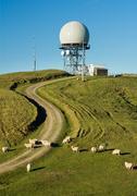 Hill top radar station Stock Photos